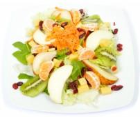 Mandarinos körte és alma saláta eidamival és vörösáfonyával